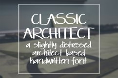 Classic Architect - a slightly distressed handwritten font Product Image 1