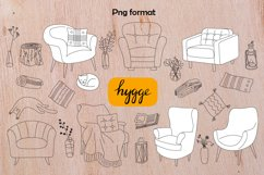 Hygge hand drawn vector of cozy images Product Image 2
