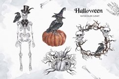 Vintage Halloween clipart Watercolor illustrations set Product Image 6