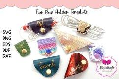 Ear Bud Holder Template|Ear Bud Wraps SVG|Ear Phones Holder Product Image 1