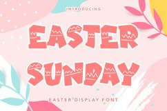 Easter Sunday - Easter Display Font Product Image 1