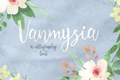 Vanmysia font Product Image 1