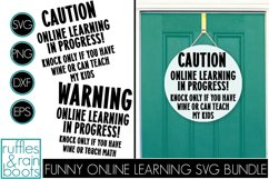 Funny Online Learning Learning Front Door Sign Wine or Teach Product Image 1
