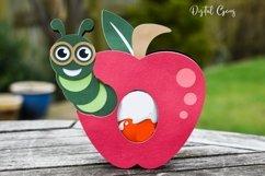 Apple egg holder design, Caterpillar / Teacher SVG / DXF Product Image 4