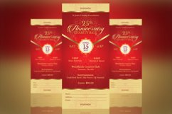 Red Gold Anniversary Gala Ticket Template Product Image 3