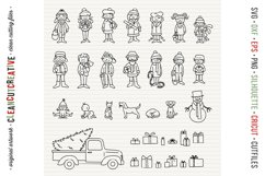 Cute Christmas Clan - Family Characters svg cutfiles vector Product Image 5
