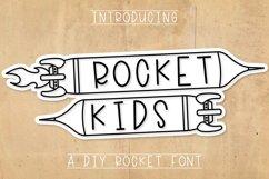 Rocket Kids - A Type-able Rocket Font Product Image 1