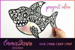SAMMY THE SHARK SVG MANDALA / ZENTANGLE DESIGN Product Image 6