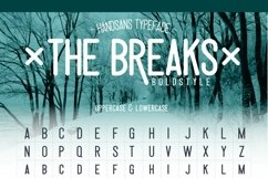 Web Font The Breaks smooth version Product Image 4