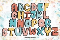 Alphabet brushes, 26 Alphabets brush stamp procreate Product Image 1
