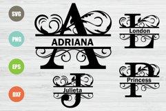 Split Letters A-Z Svg, Split Alphabet, Monogram Svg Product Image 1