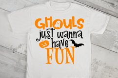 Ghouls Just Wanna Have Fun Halloween Kids SVG Cut File Product Image 2