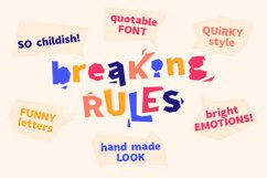 Breaking Rules - new quirky playful and funny font family. Product Image 4