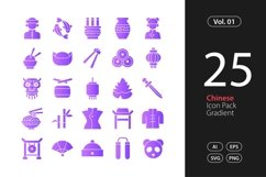 Chinese Icon Gradient SVG, EPS, PNG Product Image 1