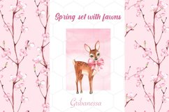 Spring set with fawns and patterns Product Image 1