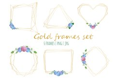 Golld frames with hydrangea Product Image 1