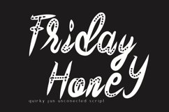 Friday Honey Quirky Font Product Image 1