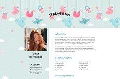 Nanny & Babysitter Resume Template Product Image 3
