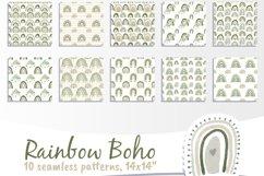 Boho Rainbow Digital Paper Neutral Product Image 2