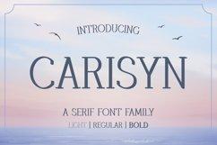 Carisyn - Serif Font Family Product Image 1