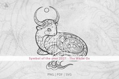 Ox, Symbol of the Year 2021, Decorative animal art Product Image 5