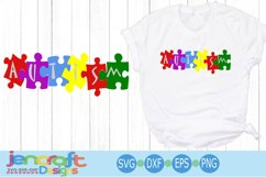 Autism Awareness Puzzle SVG Product Image 1