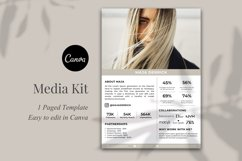 Media Kit Template, 1 Page, Canva Product Image 2