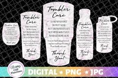 Tumbler Care Cards - Black and Pink Marble - 5 Pack! Product Image 1