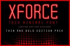 XForce - Minimal Tech Font Product Image 1