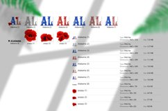 State abbreviation. USA sublimation. Alabama Product Image 5