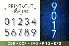 10 Number stencils, Typographic number patterns, SVG, Cricut Product Image 1