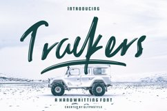 Trackers Handwritten Font Product Image 1