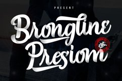 Brongline Presiom Script Font Product Image 1