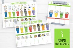 Vector collection of waste sorting clip arts, compositions Product Image 4