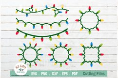 Christmas lights decor clipart bundle in SVG,PNG,DXF,EPS,PDF Product Image 1