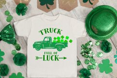 truck svg, clover svg, st patrick's day svg, kids svg, luck Product Image 4