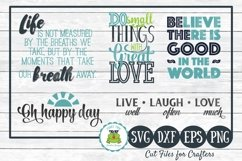 Inspirational Quotes Design Bundle SVG Cut Files for Crafter Product Image 1