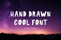 Hand drawn Cool Font Bold Space Product Image 1