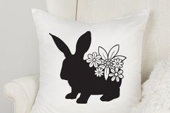 Easter Bunny SVG   Flower SVG  Rabbit SVG Product Image 2