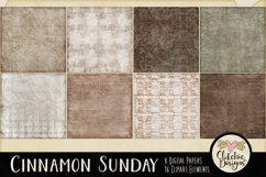 Digital Scrapbook Kit - Cinnamon Sunday Product Image 3