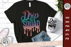 Drip Squad SVG File, Melanin SVG File, Afro Queen Birthday Product Image 1