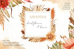 Savanna dried flowers and leaves Watercolor Product Image 1