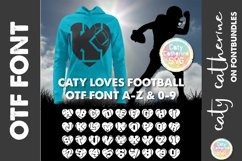 American Football Rugby Love Heart Initial Font A-Z 0-9 OTF Product Image 1