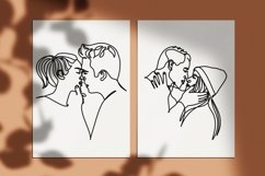 40 couple vector line illustrations. Couple EPS.AI.PNG. SVG Product Image 5