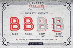 Dacota Layered Typeface & Extras Product Image 2