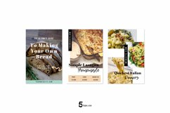 Scroll Stopping Food Blogger Pinterest Pin Pack | Canva Product Image 6