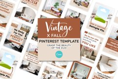 Vintage x Fall Pinterest Canva Template Product Image 2