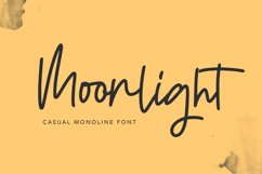 Moonlight | Casual Monoline Font Product Image 1