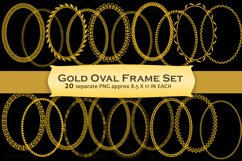 Gold Decorative Frames Clipart Product Image 1