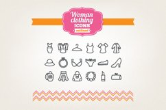 Hand Drawn Woman Clothing Icons Product Image 1
